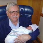 Maya with Grandpa Barry