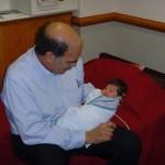 Maya with Grandpa Bruce