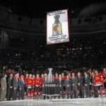 The Blackhawks Raise their 2010 Banner